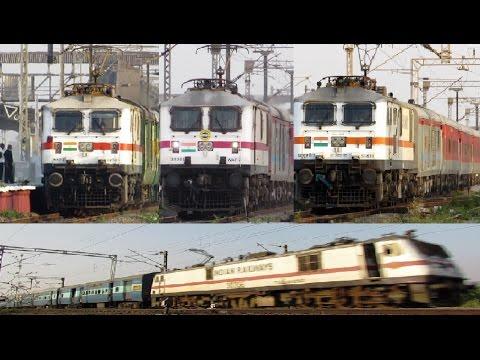 An Evening with HIGH SPEED WAP Locomotives - Indian Railways !!