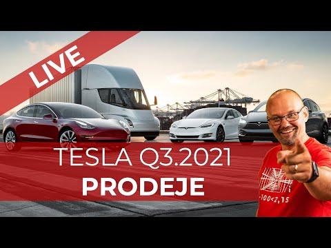 TESLA Q3 2021 PRODEJE