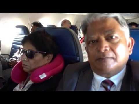 Aruna & Hari Sharma During Takeoff United 6009 From IAD To San Antonio Airport TX, Sep 13, 2016