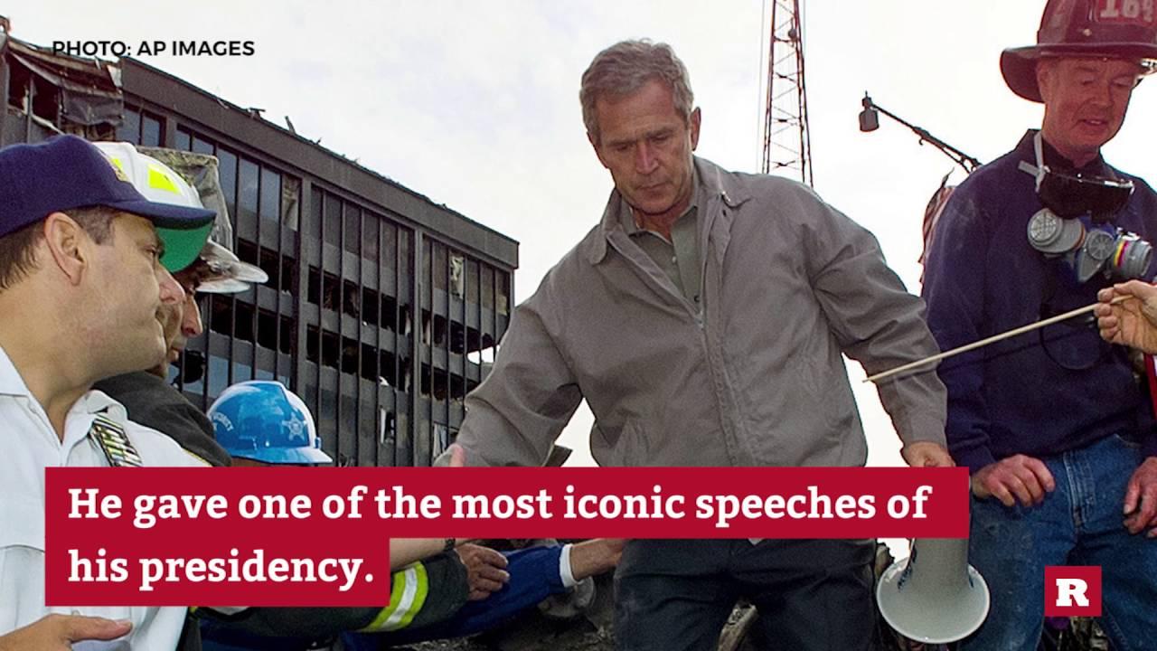 George W Bush S Unforgettable 9 11 Bullhorn Speech Rare News