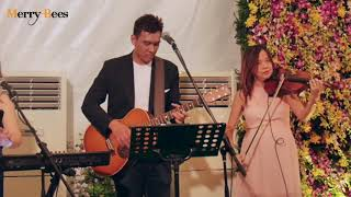 How Deep Is Your Love by John Lye (feat Ywenna and violinist) - MERRY BEES (Singapore live Band)