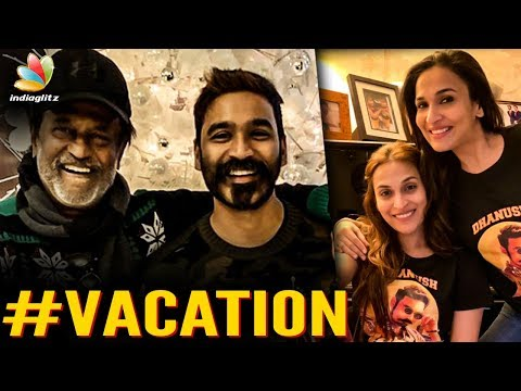 Superstar & Dhanush Welcome New Year Together in US | Rajinikanth