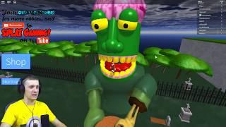 Побег от Зомби в ROBLOX Зомби съел меня Приключения мульт героя как майнкрафт детские игры от FFGTV