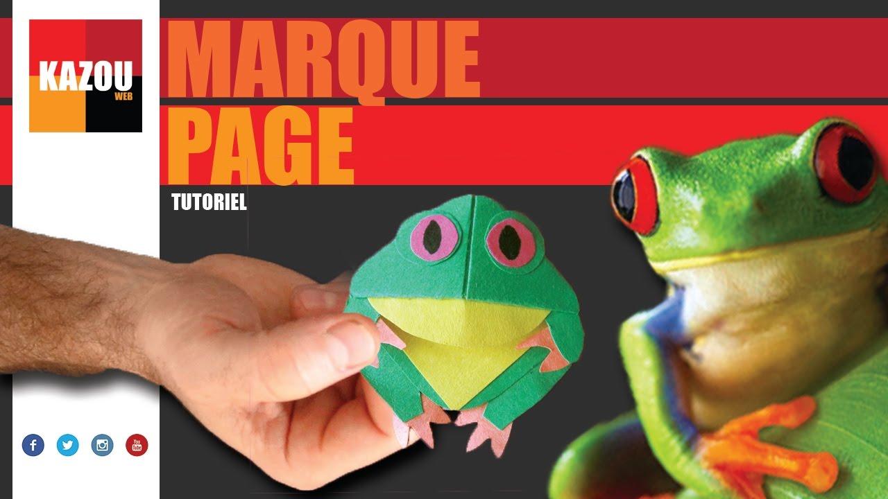 Un marque page facile grenouille avec plan gratuit kazou web youtube - Comment faire une grenouille en papier ...