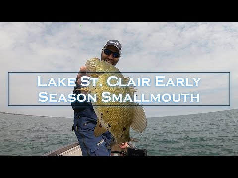 Catching LAKE ST. CLAIR Early Spring Smallmouth