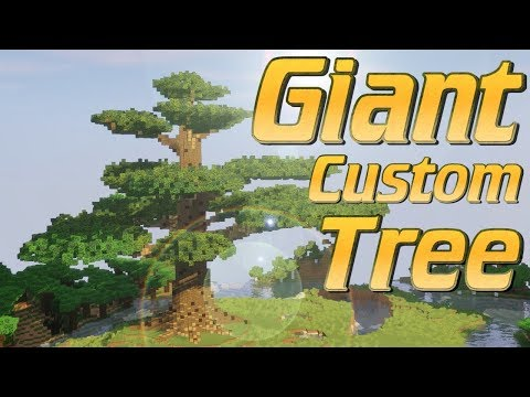 Minecraft: How To Build A GIANT Custom Tree Freestyle | Lets Build Minecraft Tutorial No World Edit