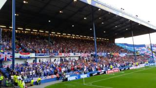 Sheffield Wednesday and Glasgow Rangers. Epic rendition of 10 German Bombers.