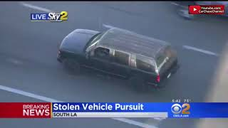Police Chase With Rare Ending Los Angeles October 4 2017