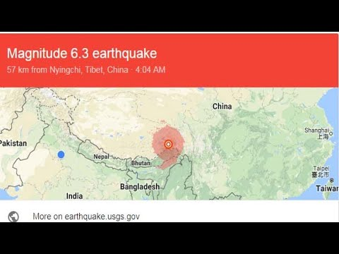 6.9 Magnitude earthquake in Tibet, Arunachal Pradesh
