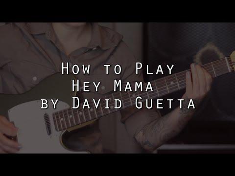 How to play Hey Mama (David Guetta, Nicki Minaj, Bebe Rexha, Afrojack) on guitar - Jen Trani