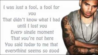 Chris Brown - All Back Lyrics Video
