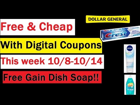 Digital Coupons Working at Dollar General- FREE Gain dish & $2 off $10!