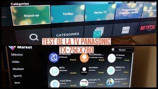 Test de la TV PANASONIC TX-75EX780