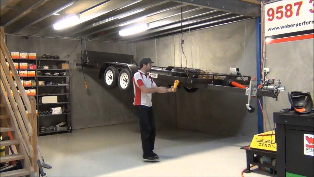 Car Trailer Storage Winch System   YouTube