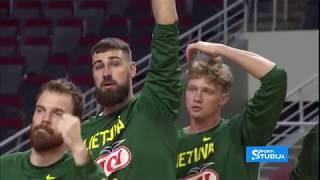 Lithuania - Romania basketball friendly game, [Valanciunas 16, Kuzminskas 15]