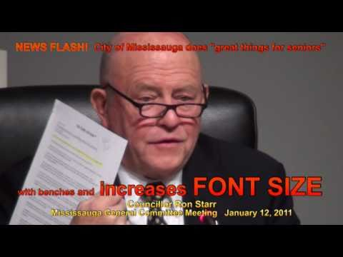 """Mississauga *OH REEEEALLY*? Ron Starr announces that Mississauga """"is doing great things for seniors"""""""
