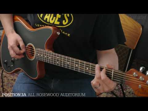 Fender American Acoustic Jazzmaster Demo