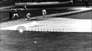 The Athletics beats the Cubs in the World Series Baseball match at the Shibe Park...HD Stock Footage