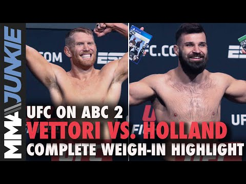 UFC On ABC 2 Official Weigh-in Highlights: Two Fighters Heavy