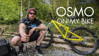 Getting a super steady OSMO shot, using my mountain bike.