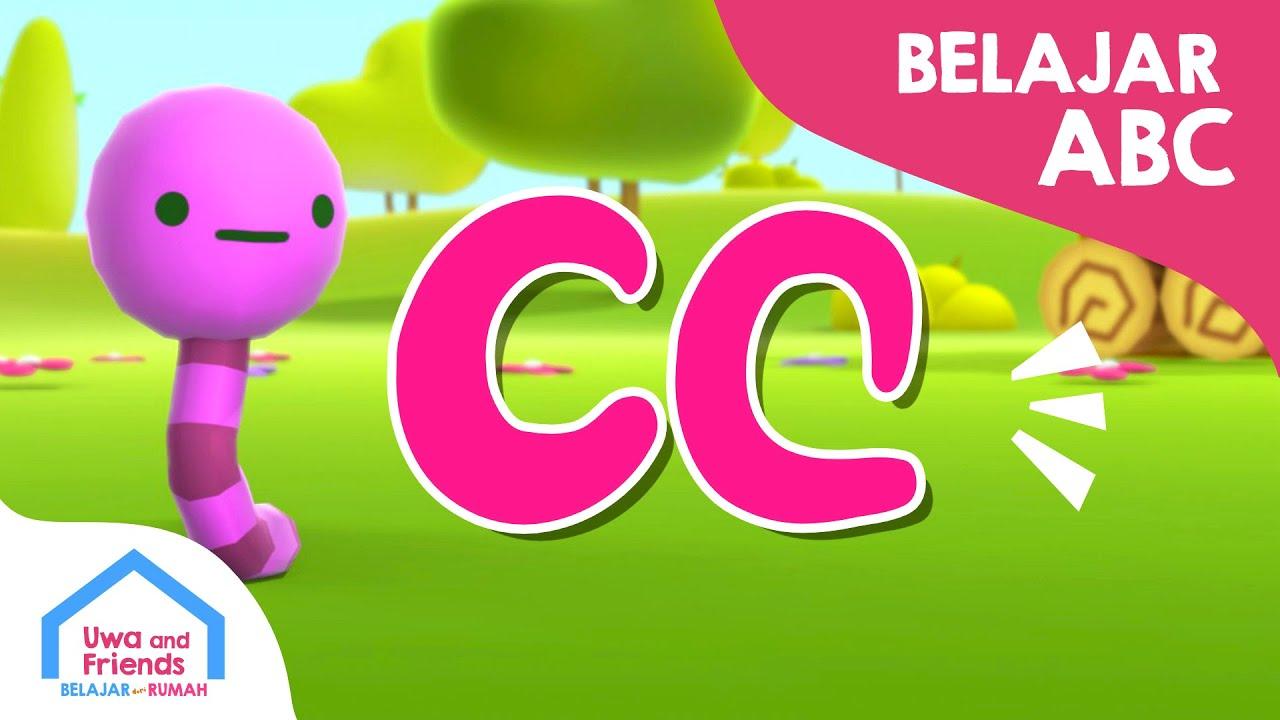 Belajar ABC huruf C - Cacing Cicak Cangkir Coklat - Belajar Membaca