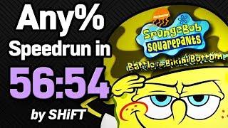 SpongeBob SquarePants: Battle for Bikini Bottom Any% Speedrun in 56:54 (WR on 4/29/2018)