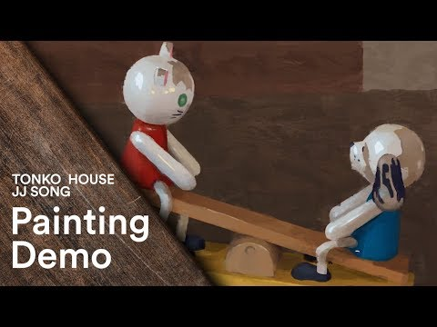 Tonko Schoolhouse #32: Children's Toy Still Life Digital Painting Demo by JJ Song