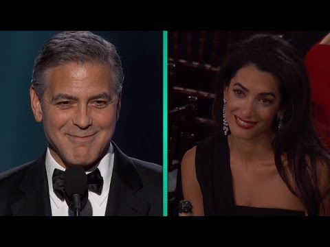 George Clooney Gushes About Wife Amal in Stirring Golden Globes Speech