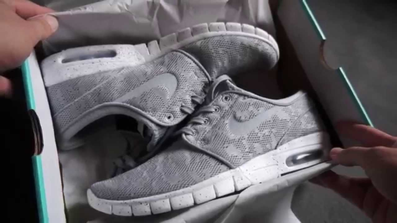 NIKE STEFAN JANOSKI MAX - Wolf Grey Mesh - unboxing & on feet review -  YouTube