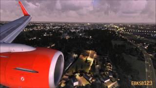 FSX HD 1080p - iFly 737 CROSSWIND Landing Hannover (EDDV) - (UTX, GEX, REX)