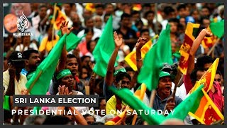 Sri Lankans to vote in critical presidential election