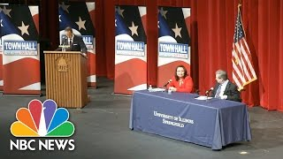Mark Kirk Questions Opponent Tammy Duckworth's American Heritage At Illinois Debate | NBC News