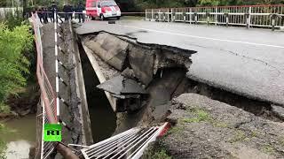 Под Адлером обрушился автомобильный мост