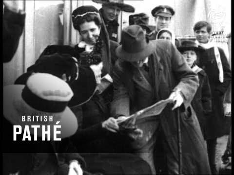British Women Return From Brussels (1918)