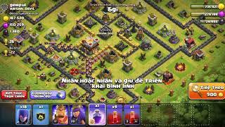 NMT| Clash of clans| 11 bình xương kèm 18 phù thủy witch siêu lầy lội