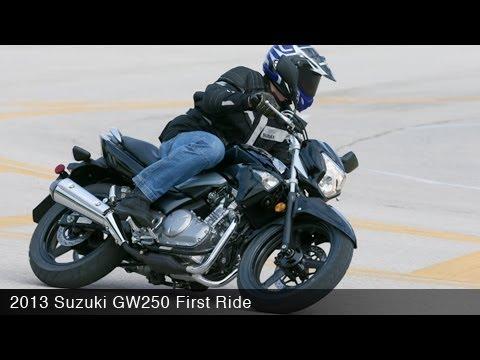 2013 Suzuki GW250 First Ride - MotoUSA