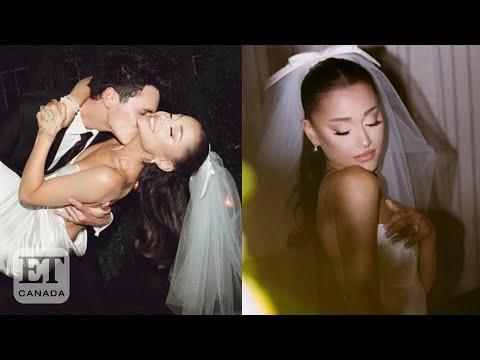 Ariana Grande shares photos from private wedding to Dalton Gomez