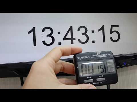 เทียบเวลา นาฬิกา จับเวลา Timer