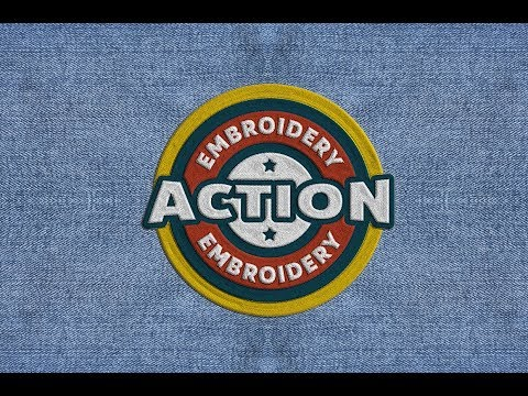 Realistic Embroidery Photoshop Effect