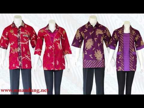 Baju Batik Sarimbit Couple Modern Model Terbaru 2015 Youtube
