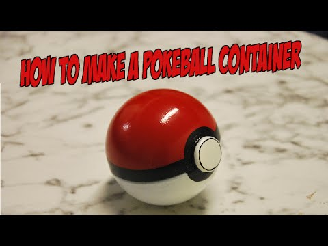 How to make a pokeball container youtube
