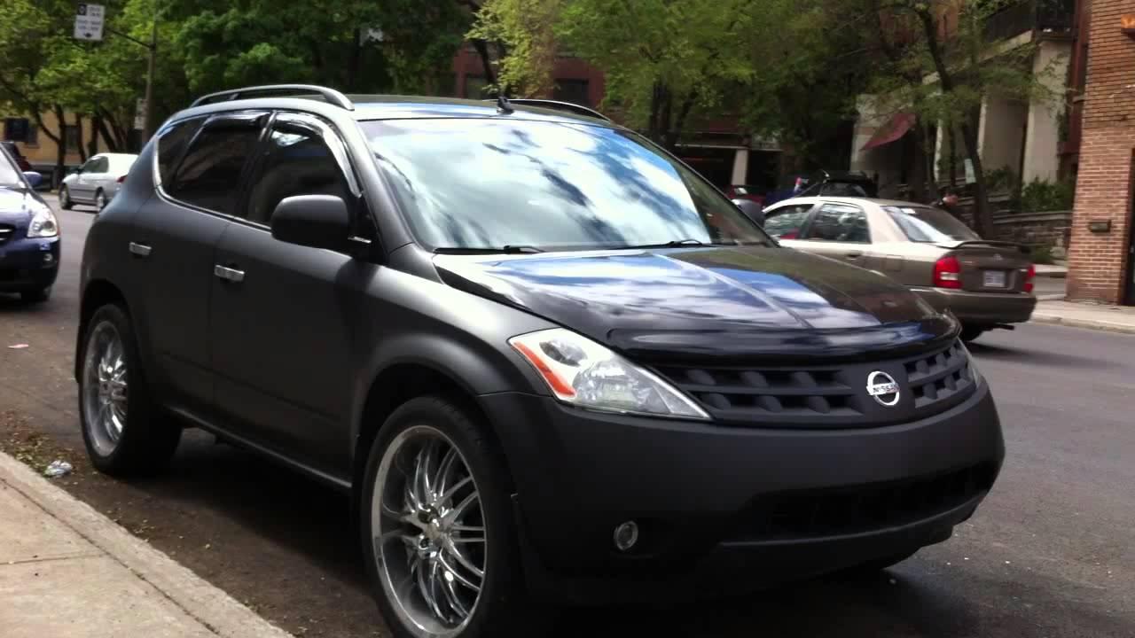 Matte Black Nissan Murano In Montreal Youtube
