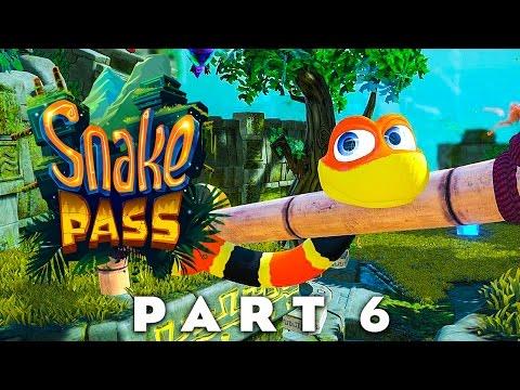 SNAKE PASS -  Roasted Ruins & Breezy Bluffs (Snake Pass Walkthrough Gameplay Part 6)