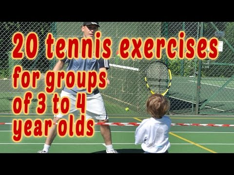 20 Tennis Exercises For Groups Of 3 4 Year Olds