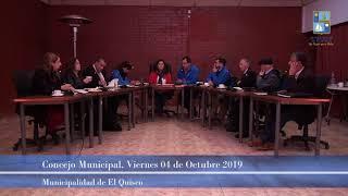 Concejo Municipal, viernes 04 de octubre 2019