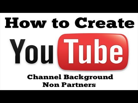 Tutorial (easy) - How to create YouTube Channel Background (Non ...