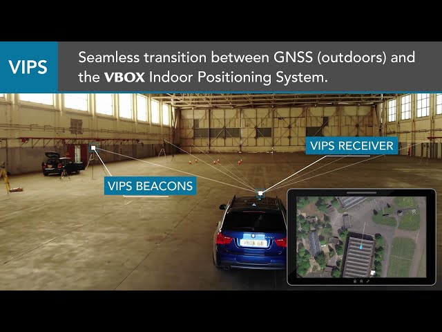 Racelogic VIPS Indoor Positioning featuring Xsens technology