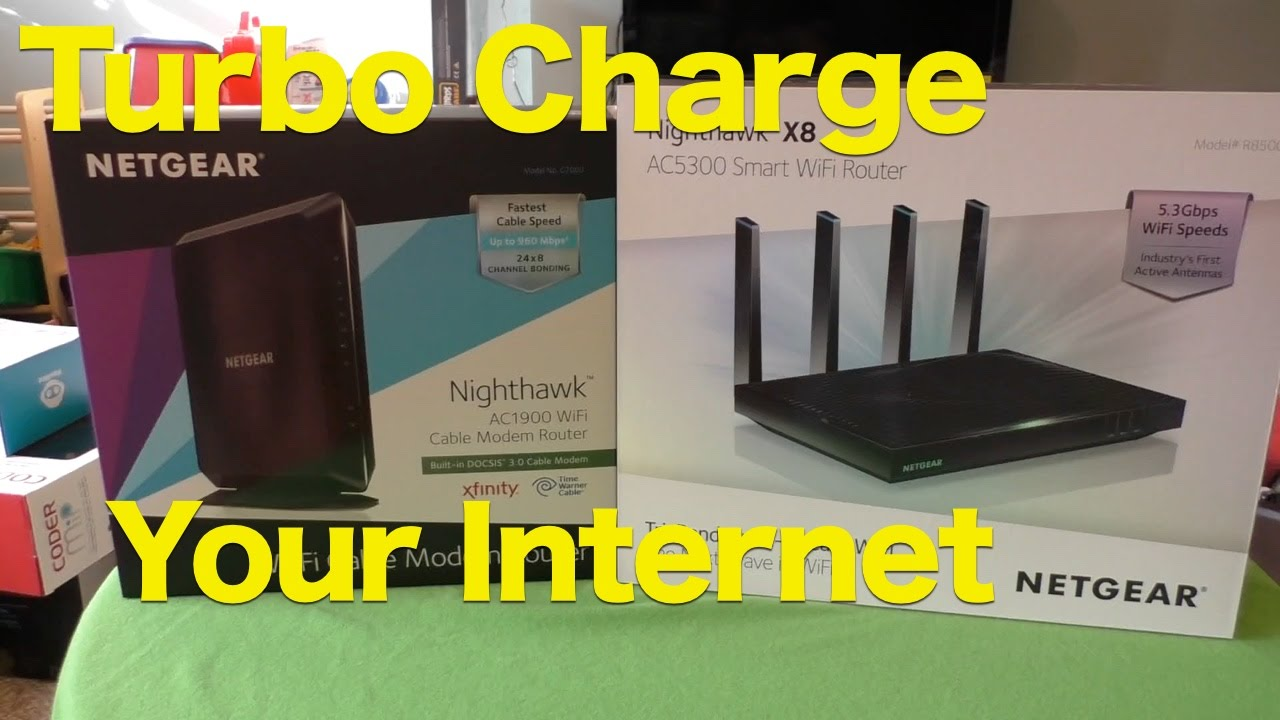 Review: NETGEAR Nighthawk X8 AC5300 Tri-Band WiFi Router and AC1900 WiFi  Cable Modem Router