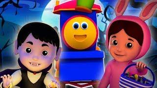 สวัสดีวันฮาโลวีน | เพลงฮาโลวีนสำหรับเด็ก | เพลงเด็ก | Hello Its Halloween English | Bob Train Song