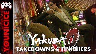 Yakuza 0 Takedowns & Finishers | Finishing Moves | Kill Compilation | Combat Moves | Heat Actions